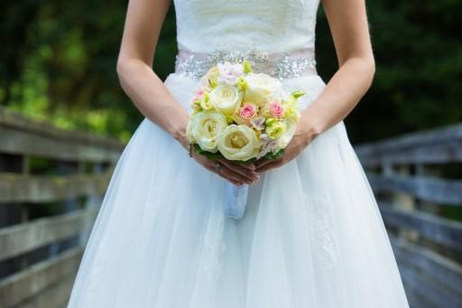Brautstrauß weis-rosa